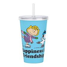Happiness is Friendshi Acrylic Double-wall Tumbler