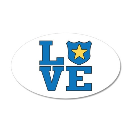 Love Law Enforcement 20x12 Oval Wall Decal