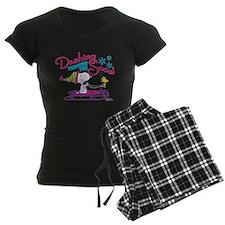 Snoopy and Woodstock Dashing Women's Dark Pajamas