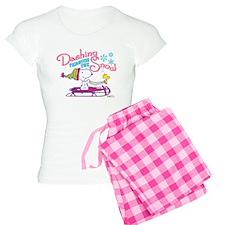 Snoopy and Woodstock Dashin Women's Light Pajamas