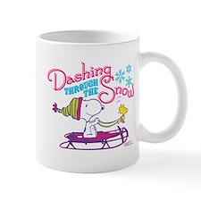 Snoopy and Woodstock Dashing Through Sn Mug