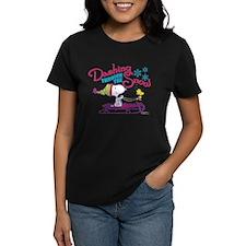 Snoopy and Woodstock Dashing Women's Dark T-Shirt