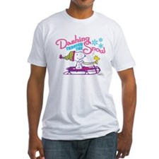 Snoopy and Woodstock Dashing Throug Fitted T-Shirt