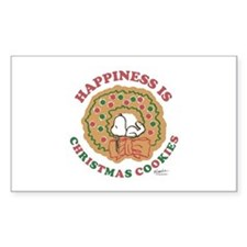 Snoopy:Hapiness is Christmas C Sticker (Rectangle)