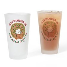 Snoopy:Hapiness is Christmas Cookie Drinking Glass