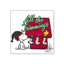 Snoopy: All the Trimmings Square Sticker 3