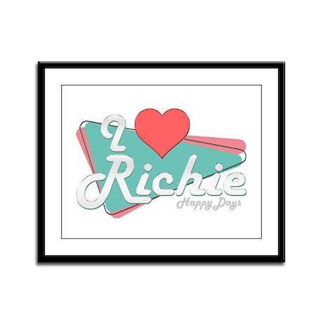 I Heart Richie Framed Panel Print