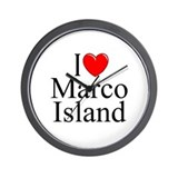 """I Love Marco Island"" Wall Clock"