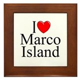 """I Love Marco Island"" Framed Tile"