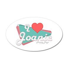 I Heart Joanie 38.5 x 24.5 Oval Wall Peel