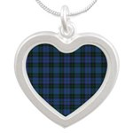 Tartan - Clergy Silver Heart Necklace
