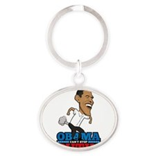 Obama Can't Stop Putin Pooting Farti Oval Keychain