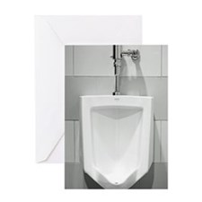 Urinal  Greeting Card