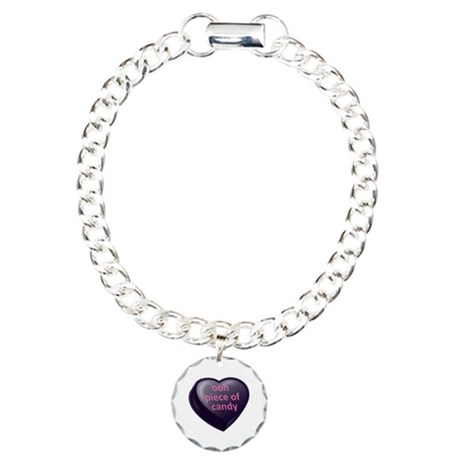 ooh piece of candy Candy Heart Charm Bracelet, One Charm