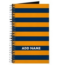 Orange navy rugby stripes Journal
