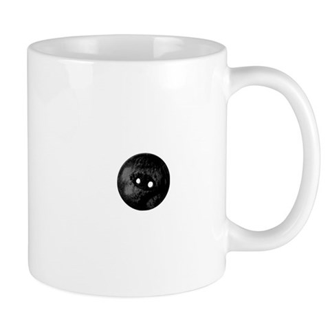 Black Button Sewing Embellishment Mugs