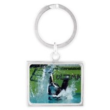 Hold your breath and go for it! Landscape Keychain