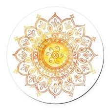 Decorative Sun Round Car Magnet