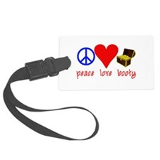 Peace Love Pirate Booty Luggage Tag