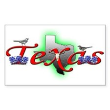 Texas Rectangle Decal