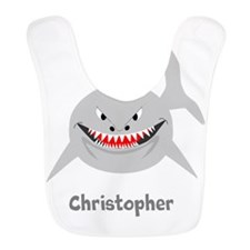 Personalized Shark Design Bib