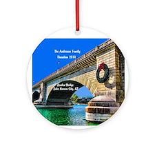 Personalized London Bridge Lake Ornament (round)