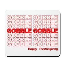 Gobble Gobble Retro Thanksgiving Mousepad