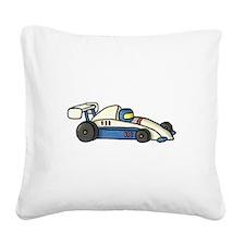 Cute Race Car Doodle For Kids Square Canvas Pillow