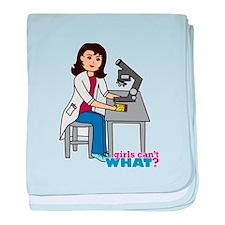 Scientist Girl - Medium baby blanket