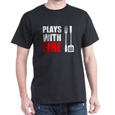 Plays With Fire Grill T-Shirt