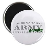 Proud Army Grandpa (green) Magnet