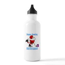 Hockey Christmas Water Bottle