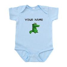 Custom Green Alligator Body Suit