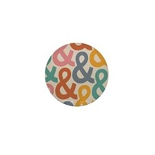 Colorful Ampersands Mini Button (10 pack)