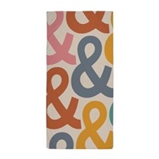 Colorful Ampersands Beach Towel