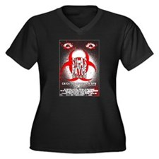 Silas Rayge Women's Plus Size V-Neck Dark T-Shirt