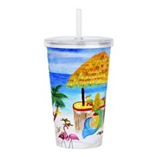 Mermaids Tiki Beach Bar Acrylic Double-wall Tumble
