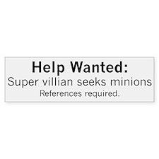 Minions Wanted Car Sticker
