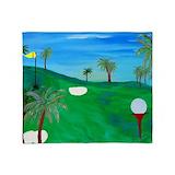 Golf throw blankets Fleece Blankets