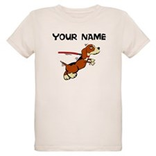 Custom Dog On Leash T-Shirt