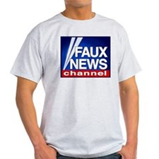 FAUX NEWS Ash Grey T-Shirt