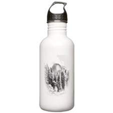Half Dome Winter Portr Water Bottle