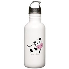 Cute Black and White Cow Water Bottle