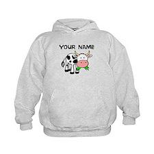 Custom Cartoon Cow Hoodie