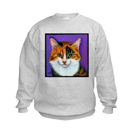 Calico Cat Kids Sweatshirt