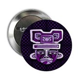 Purple Tiki Mask Button