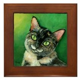 Tortoise Shell Cat Framed Tile