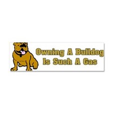 Cute English bulldog Car Magnet 10 x 3