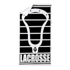Lacrosse Head Lines Beach Towel