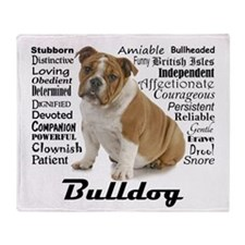 Bulldog Traits Throw Blanket